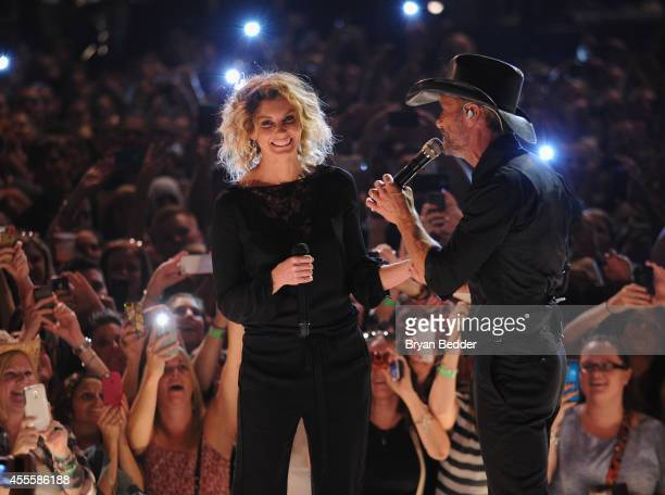 Musicians Faith Hill and Tim McGraw perform for the 'American Express Unstaged' music series directed by Bennett Miller and live streamed from the...