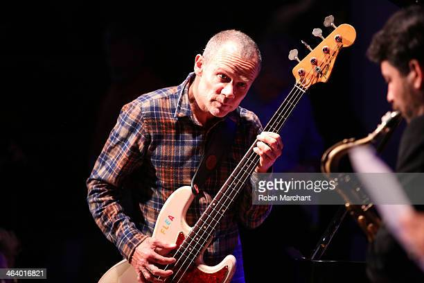 Musicians Flea and Ohad Talmor perform at the 'A Celebration Of Music In Film' at Sundance House during the 2014 Sundance Film Festival on January 19...