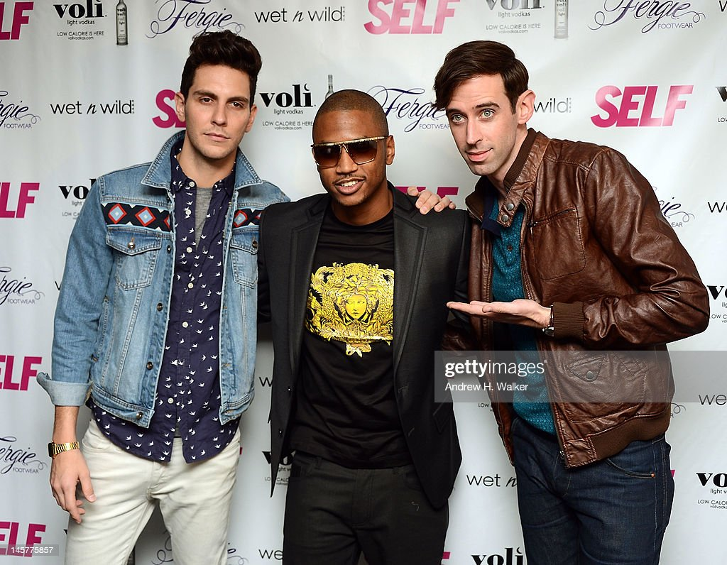 Musicians <a gi-track='captionPersonalityLinkClicked' href=/galleries/search?phrase=Gabe+Saporta&family=editorial&specificpeople=4214209 ng-click='$event.stopPropagation()'>Gabe Saporta</a>, <a gi-track='captionPersonalityLinkClicked' href=/galleries/search?phrase=Trey+Songz&family=editorial&specificpeople=674835 ng-click='$event.stopPropagation()'>Trey Songz</a>, and <a gi-track='captionPersonalityLinkClicked' href=/galleries/search?phrase=Ryland+Blackinton&family=editorial&specificpeople=4063820 ng-click='$event.stopPropagation()'>Ryland Blackinton</a> attend SELF Magazine's July Issue Launch With Fergie on June 5, 2012 in New York, United States.