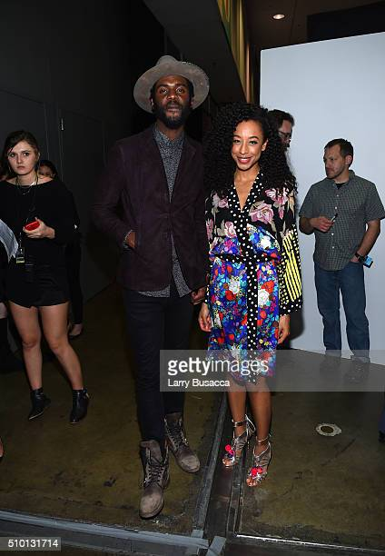 Musicians Gary Clark Jr and Corinne Bailey Rae attend the 2016 MusiCares Person of the Year honoring Lionel Richie at the Los Angeles Convention...