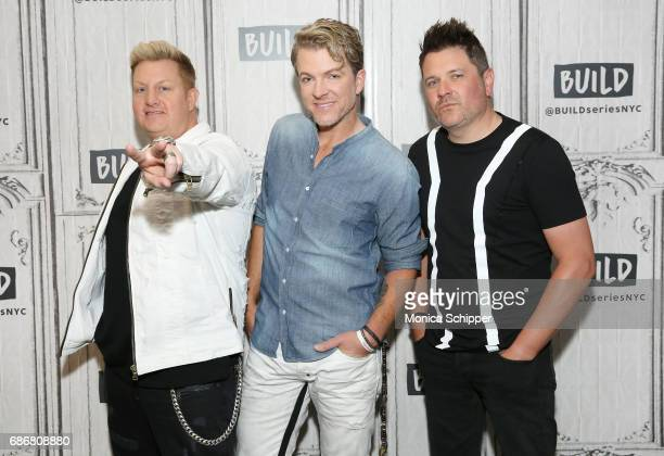 Musicians Gary LeVox Joe Don Rooney and Jay DeMarcus of band Rascal Flatts attend Build presents Rascal Flatts promoting their new album at Build...