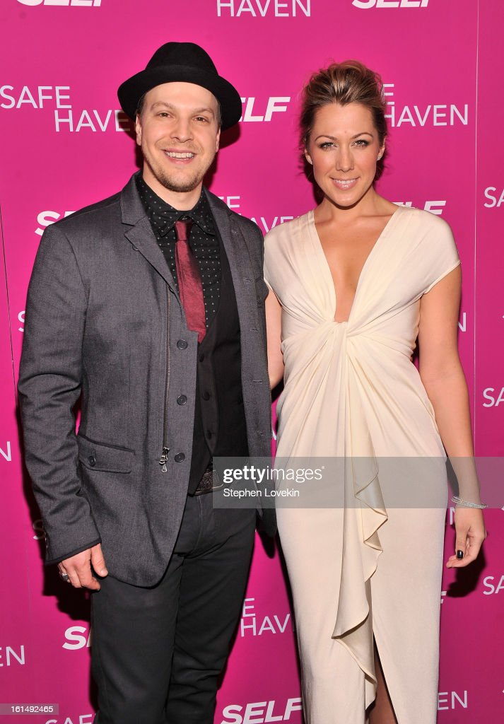 Musicians Gavin DeGraw and Colbie Caillat attend SELF Magazine and Relativity Media's special New York screening of 'Safe Haven' at Landmark Theatres...