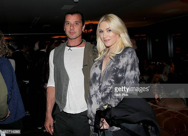 Musicians Gavin Rossdale and Gwen Stefani attend PANDORA Jewelry and Moto X present 'American Hustle' at cinema prive at on November 30 2013 in West...