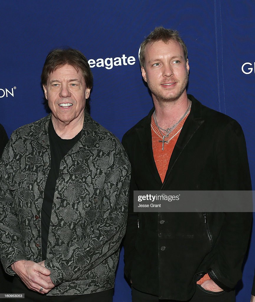 Musicians George Thorogood and Kenny Wayne Shepherd attend The 55th Annual GRAMMY Awards - Music Preservation Project 'Play It Forward' Celebration highlighting The GRAMMY Foundations ongoing work to safegaurd music's history at the Saban Theatre on February 7, 2013 in Los Angeles, California.