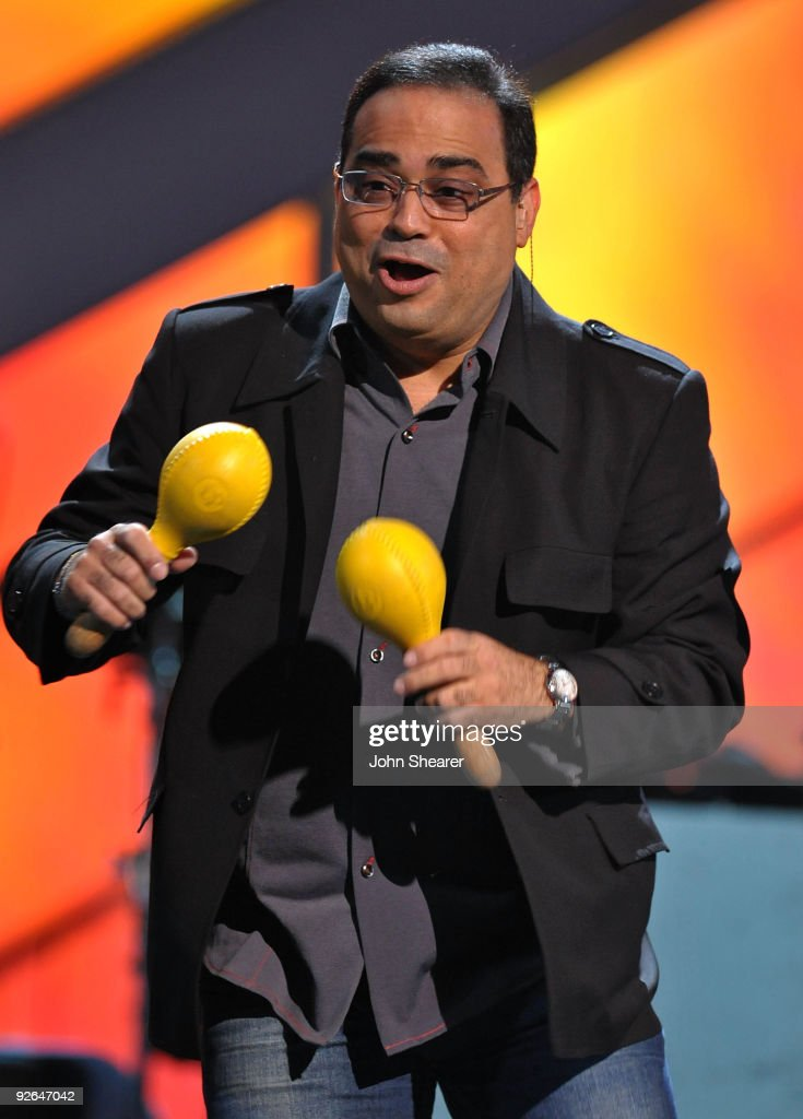 Musicians Gilberto Santa Rosa performs onstage during the 10th Annual Latin GRAMMY Awards Rehearsals Day 2 held at the Mandalay Bay Events Center on...
