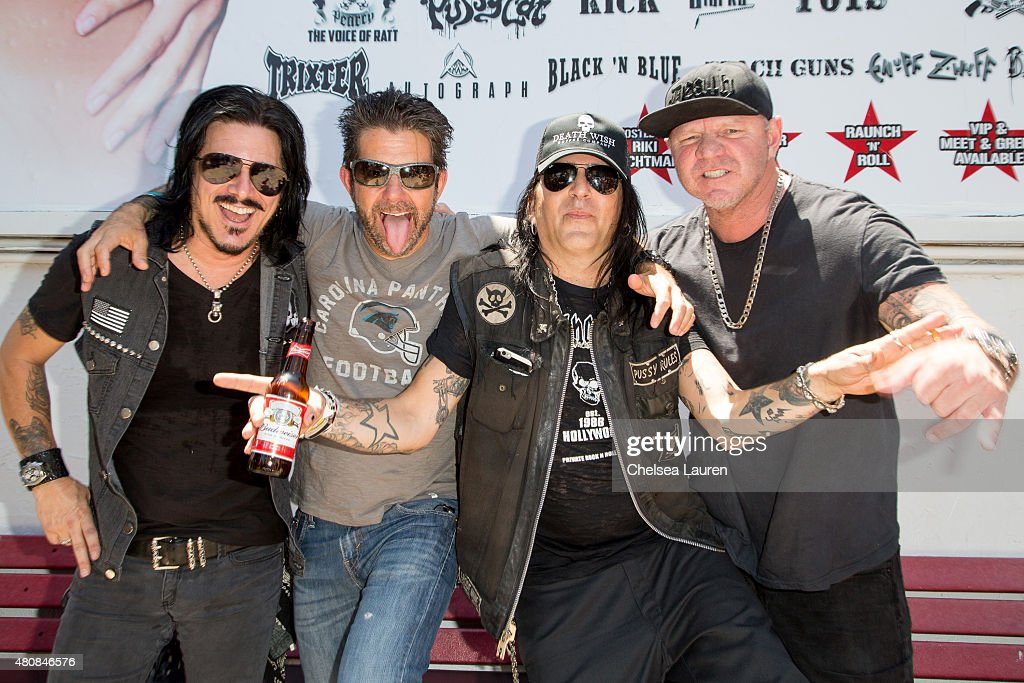 Cathouse Live Press Event. Musicians Gilby Clarke, Riki Rachtman, Taime  Downe and festival