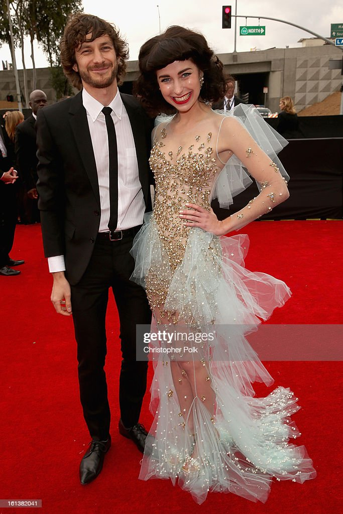 Musicians <a gi-track='captionPersonalityLinkClicked' href=/galleries/search?phrase=Gotye&family=editorial&specificpeople=4056440 ng-click='$event.stopPropagation()'>Gotye</a> (L) and Kimbra attend the 55th Annual GRAMMY Awards at STAPLES Center on February 10, 2013 in Los Angeles, California.