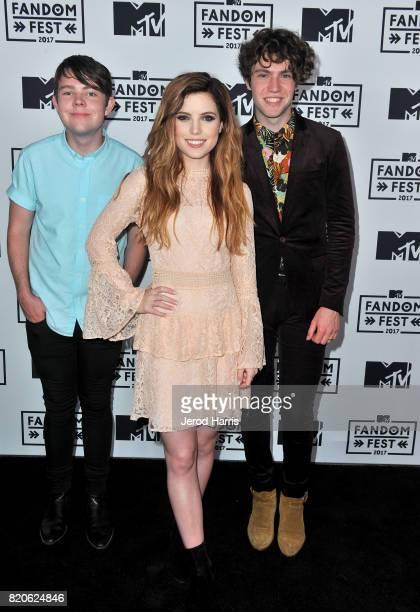 Musicians Graham Sierota Sydney Sierota and Noah Sierota of Echosmith attend MTV Fandom Fest at PETCO Park on July 21 2017 in San Diego California