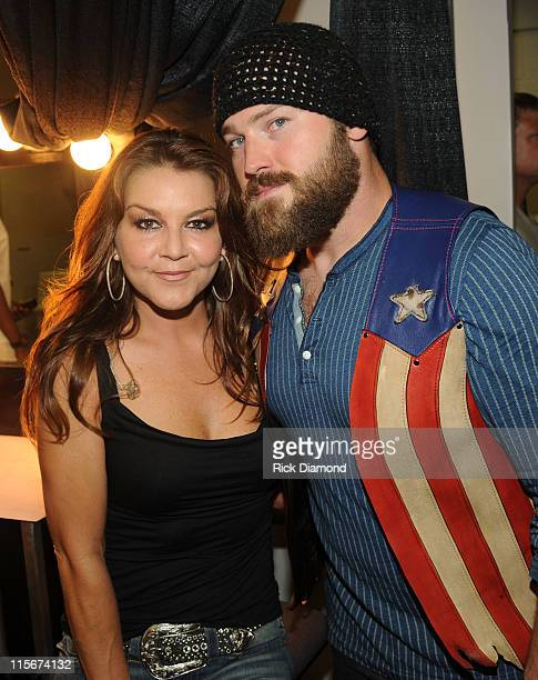 Musicians Gretchen Wilson and Zac Brown of The Zac Brown Band attends the 2011 CMT Music Awards at the Bridgestone Arena on June 8 2011 in Nashville...