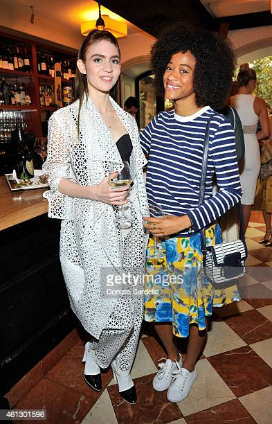 Musicians Grimes and Kilo Kish attend Lynn Hirschberg Celebrates W's It Girls with Piaget and Dom Perignon at AOC on January 10 2015 in Los Angeles...