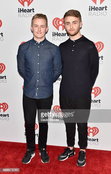 Musicians Guy Lawrence and Howard Lawrence of Disclosure attend the 2015 iHeartRadio Music Festival at MGM Grand Garden Arena on September 18 2015 in...