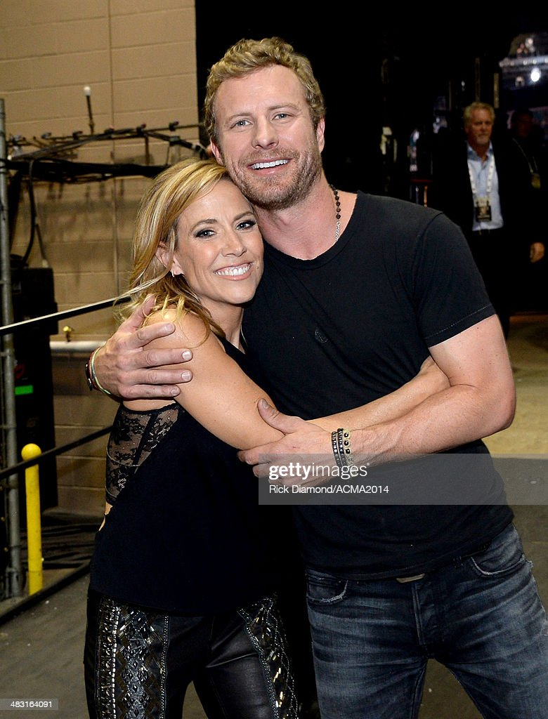 Musicians Gwen Sebastian and Dierks Bentley attend the 49th Annual Academy of Country Music Awards at the MGM Grand Garden Arena on April 6 2014 in...