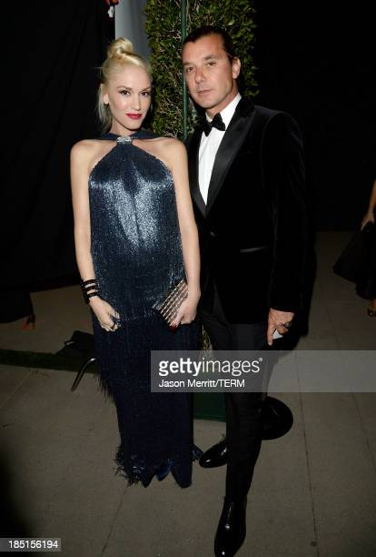 Musicians Gwen Stefani and Gavin Rossdale wearing Ferragamo arrive at the Wallis Annenberg Center for the Performing Arts Inaugural Gala presented by...