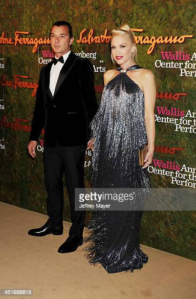 Musicians Gwen Stefani wearing Ferragamo and Gavin Rossdale arrive at the Wallis Annenberg Center For The Performing Arts Inaugural Gala at Wallis...