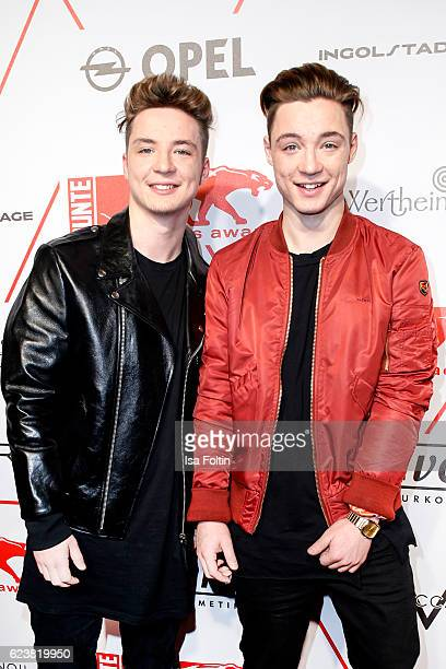Musicians Heiko Lochmann and his borther Roman Lochmann attend New Faces Award Style on November 16 2016 in Berlin Germany