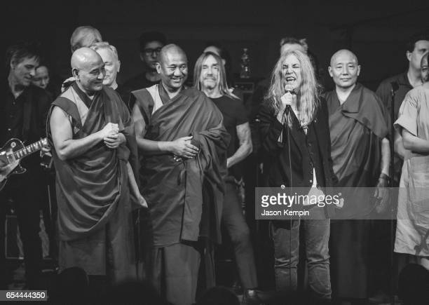 Musicians Iggy Pop and Patti Smith perform at the Tibet House US 30th Anniversary Benefit Concert Gala Celebrating Philip Glass's 80th Birthday on...