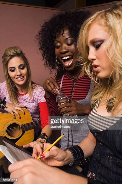 Musicians in studio