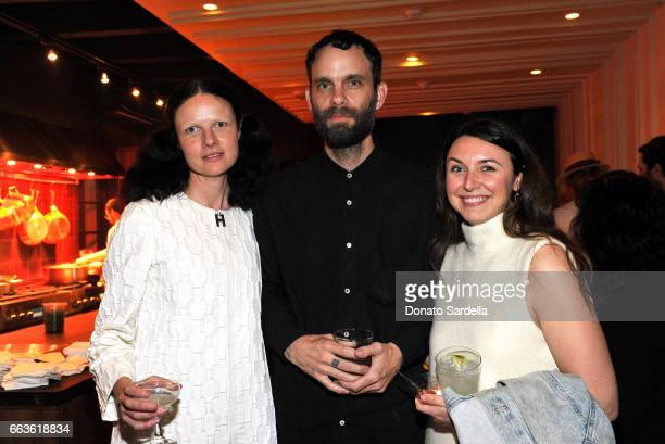 Musicians Isabelle Albuquerque and Jon Beasley and Emily Bates attend MOCA's Leadership Circle and Members' Opening of 'Carl Andre Sculpture as Place...