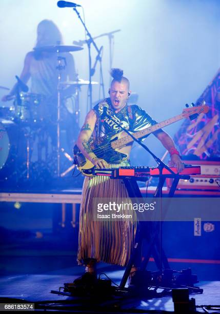 Musicians Jack Lawless and Cole Whittle of DNCE perform on the second night of CBS RADIO's 'SPF' concert at The Boulevard Pool at The Cosmopolitan of...