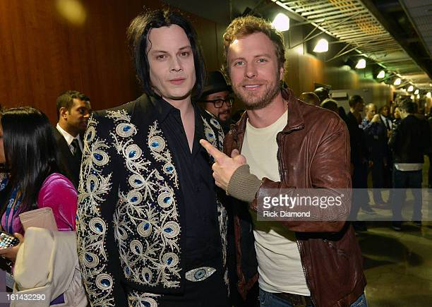 Musicians Jack White and Dierks Bentley attend the 55th Annual GRAMMY Awards at STAPLES Center on February 10 2013 in Los Angeles California