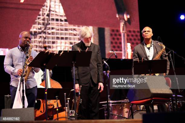 Musicians Jaleel Shaw Tom Harrell and Wayne Escoffery from Tom Harrell Colors Of A Dream performs during the 36th Annual Chicago Jazz Festival at...