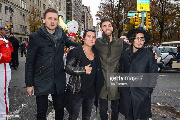 Musicians James Adam Shelley Matt Sanchez Zac Barnett and Dave Rublin of American Authors attend the 88th Annual Macys Thanksgiving Day Parade on...