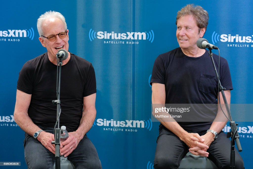 Musicians James Pankow (L) and Robert Lamm of the band Chicago attend a SiriusXM 'Town Hall' event at SiriusXM Studios on June 14, 2017 in New York City.