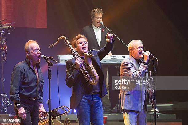 Musicians James Pankow Walt Parazaider Robert Lamm and Lee Loughnane of Chicago perform in concert at ACL Live on May 27 2016 in Austin Texas