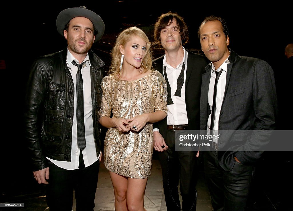 Musicians James Shaw, Emily Haines, Joules Scott-Key and Joshua Winstead of Metric attend 'VH1 Divas' 2012 at The Shrine Auditorium on December 16, 2012 in Los Angeles, California.