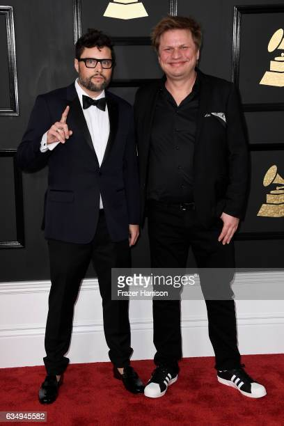 Musicians James Teej and Timo Maas attend The 59th GRAMMY Awards at STAPLES Center on February 12 2017 in Los Angeles California