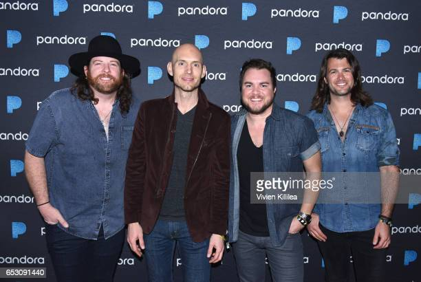 Musicians James Young Jon Jones Mike Eli and Chris Thompson of Eli Young Band attend Pandora at SXSW 2017 on March 13 2017 in Austin Texas