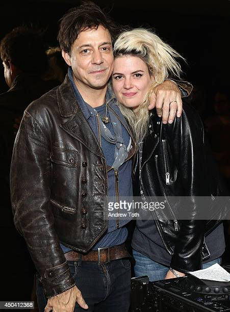 Musicians Jamie Hince and Alison Mosshart of band The Kills attend Jamie Hince's 'Echo Home' Exhibition Opening after party at Soho Grand Hotel on...