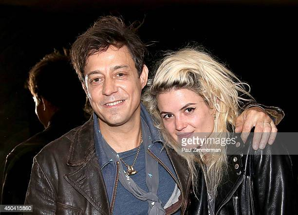 Musicians Jamie Hince and Alison Mosshart of band The Kills attend Jamie Hince's 'Echo Home' Exhibition Opening sponsored by Morrison Hotel Gallery...