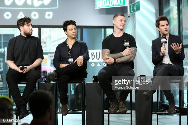 Musicians Jamie Morrison Adam Zindani Richard Jones and Kelly Jones from the rock band Stereophonics discuss their album 'Scream Above The Sounds' at...
