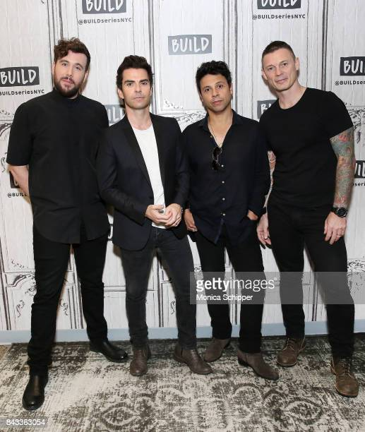 Musicians Jamie Morrison Kelly Jones Adam Zindani and Richard Jones from the rock band Stereophonics discuss their album 'Scream Above The Sounds' at...