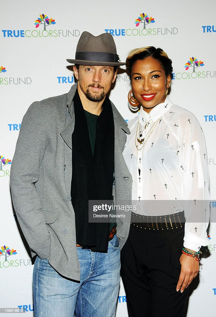Musicians Jason Mraz and Melanie Fiona attend the 2nd annual Cyndi Lauper and Friends: Home For The Holidays at The Beacon Theatre on December 8, 2012 in New York City.