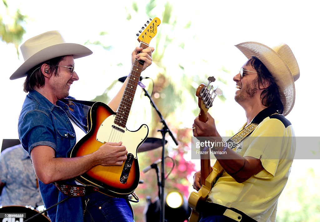 Musicians Jess Carson (L) and Cameron Duddy of the band Midland perform onstage during 2016 Stagecoach California's Country Music Festival at Empire Polo Club on May 01, 2016 in Indio, California.