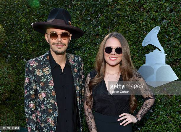 Musicians Jesse Huerta and Joy Huerta of Jesse Y Joy attend the 16th Latin GRAMMY Awards at the MGM Grand Garden Arena on November 19 2015 in Las...