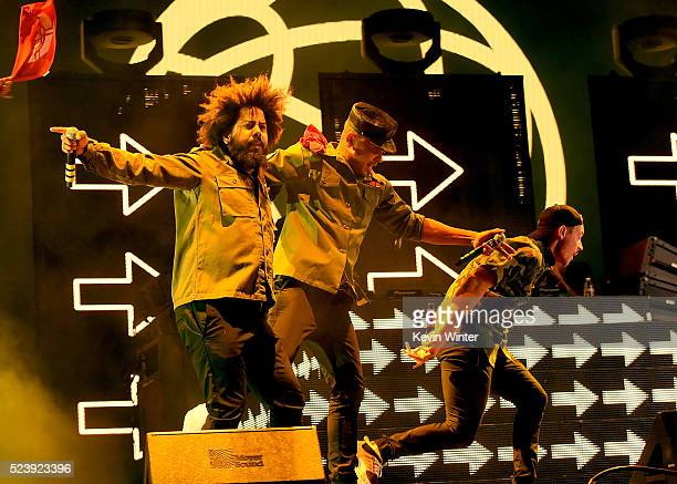 Musicians Jillionaire Walshy Fire and Diplo of Major Lazer perform onstage during day 3 of the 2016 Coachella Valley Music Arts Festival Weekend 2 at...
