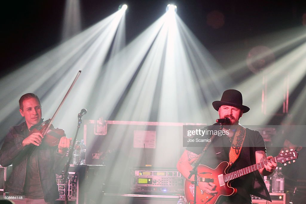 Musicians Jimmy De Martini (L) and Zac Brown of the Zac Brown Band perform at Bleacher Report's 'Bleacher Ball' presented by go90 at The Mezzanine prior to Sunday's big game on February 5, 2016 in San Francisco, California.