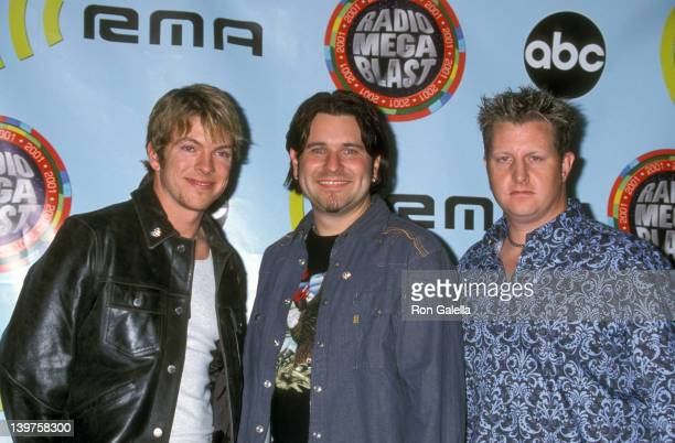 Musicians Joe Don Rooney Jay DeMarcus and Gary LeVox attend Radio Music Awars on October 26 2001 at the Aladdin Hotel and Casino in Las Vegas Nevada