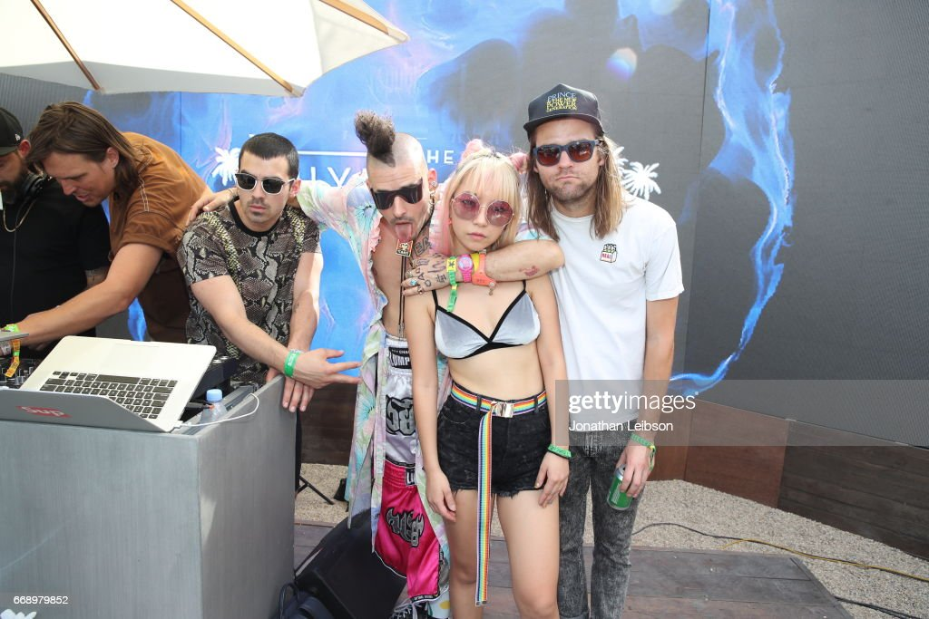Musicians Joe Jonas, Cole Whittle, JinJoo Lee, and Jack Lawless of DNCE attends The Hyde Away, hosted by Republic Records & SBE, presented by Hudson and bareMinerals during Coachella on April 15, 2017 in Thermal, California.
