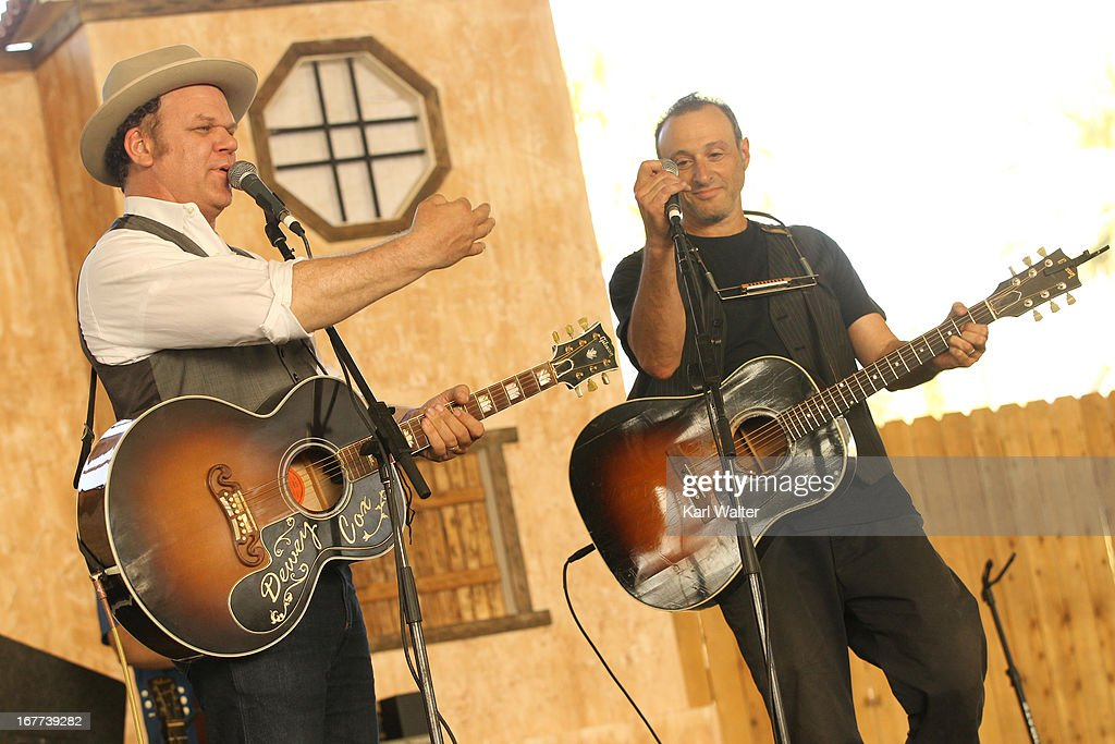 Musicians John C Reilly and Dan Bern perform onstage during 2013 Stagecoach California's Country Music Festival held at The Empire Polo Club on April...
