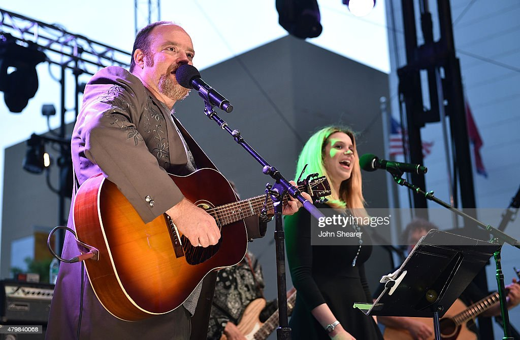 Musicians John Carter Cash left and Ana Cristina perform during the 'Dylan Cash And The Nashville Cats A New Music City' album release concert at...