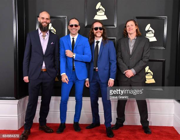 Musicians John Dyer Baizley Sebastian Thomson Nick Jost and Peter Adams of Baroness attend The 59th GRAMMY Awards at STAPLES Center on February 12...