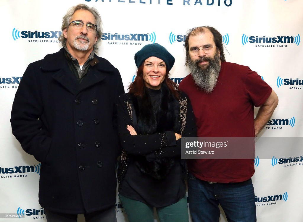 Musicians John Leventhal, Rosanne Cash and Steve Earle visit the SiriusXM Studios on December 16, 2013 in New York City.