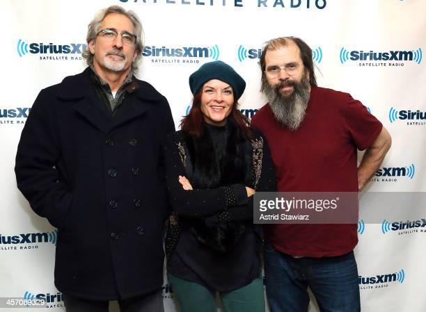 Musicians John Leventhal Rosanne Cash and Steve Earle visit the SiriusXM Studios on December 16 2013 in New York City