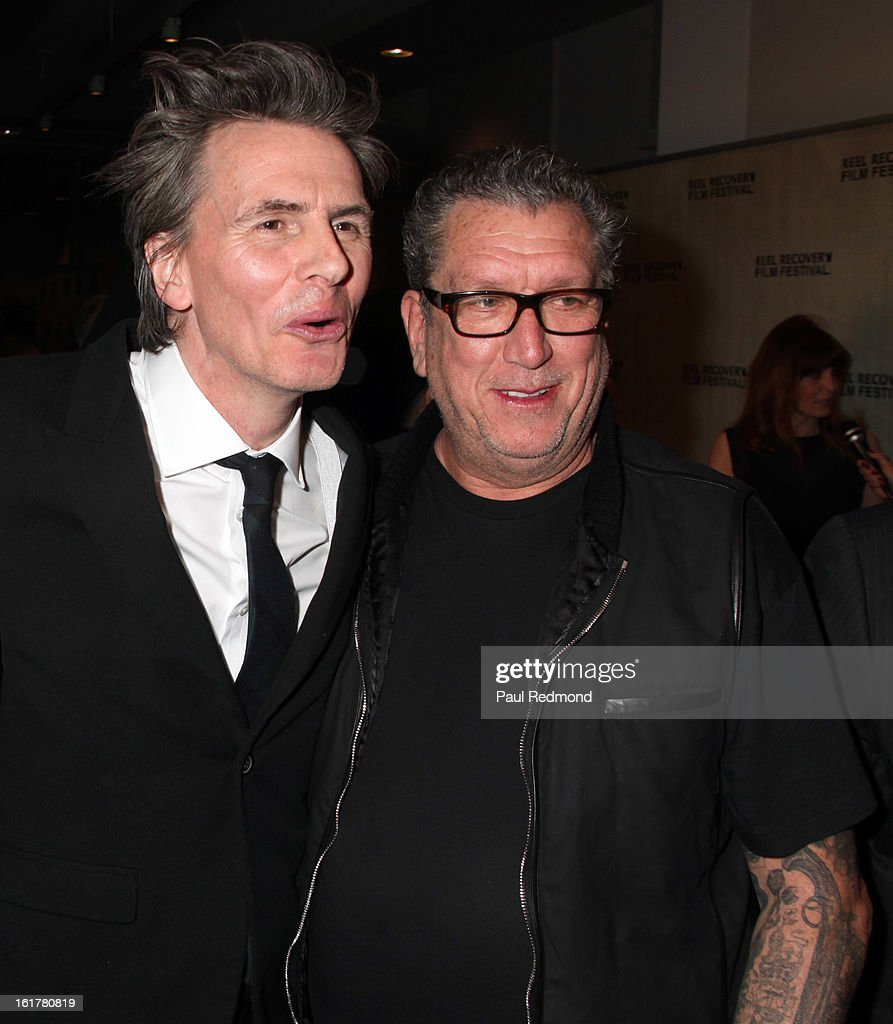 Musicians John Taylor and Steve Jones arrives at Writers In Treatment's 4th Annual Experience, Strength And Hope Awards at Skirball Cultural Center on February 15, 2013 in Los Angeles, California.