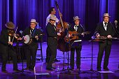 Musicians Johnny Warren Jerry Douglass Jeff White Barry Bales and Shawn Camp of The Earls of Leicester perform at Country Music Hall of Fame and...