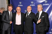 Musicians Jon Bon Jovi and Jimmy Buffett New York City Police Commissioner Raymond W Kelly and actor Michael Douglas attend the 33rd Annual Police...